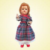 Early Ideal Red Hair Toni P-90 Doll Nylon Wig Circa 1949