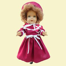 Excellent Arranbee Nancy Doll, Circa 1940s, Two Outfits!