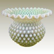 A Perfect Topaz Opalescent Fenton Vase 1959-1962