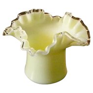 Fenton Ivory Crest Hat Vase 1940-1941