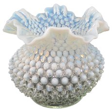 1930s Fenton French Opalescent Hobnail Vase