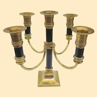 An Elegant Vintage Brass Two Tone Candleabra