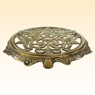 A Large Vintage Brass Jardiniere Stand