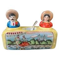 Cute Kitsch Mexican Nodder Souvenir Salt and Pepper Shakers