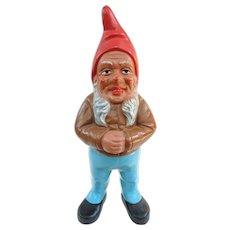 Original Red Clay E. Griebel Garden Gnome, C1950