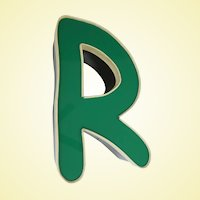 Really Cool Hand Made Genuine Marquis Sign Letter R