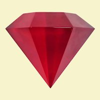 Neat Ruby Lucite Gem Paperweight