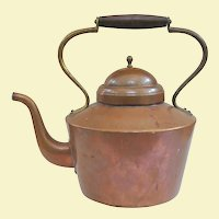 A Large Antique English Copper Kettle Circa 1900