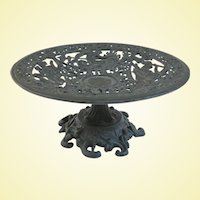 An Elaborate Vintage Neoclassical Robert Emig Cast Iron Tazza Compote