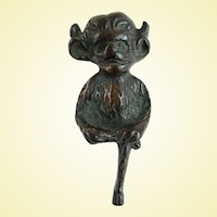 Antique Lincoln Imp Interior Door Knocker After Lincoln Cathedral