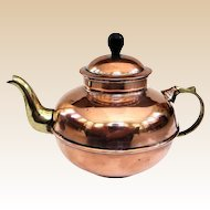 An Extra Cute Little Vintage Turkish Copper Tea Kettle