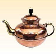 An Extra Cute Little Vintage Turkish Copper Tea Kettle
