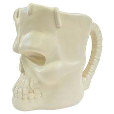 Vintage Franken Skull Large Heavy Ceramic Mug