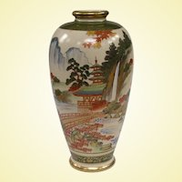 Antique Japanese Masterwork Satsuma Vase Late Meiji or Early Taisho