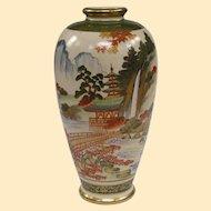 Antique Japanese Masterwork Satsuma Vase Late Meiji or Early Taisho