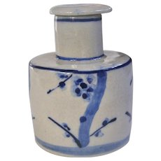An Antique Underglaze Blue Japanese Soy Decanter