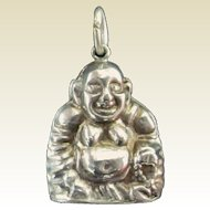 An Older Vintage Silver Chinese Puffy Buddha Charm or Pendant