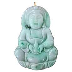 Superb Jade Guanyin Pendant In Shades of Green