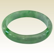 A Lovely Vintage Green Jadeite Bangle 59mm