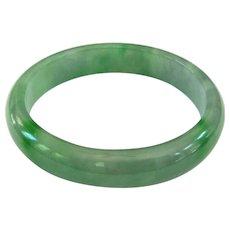 A Lovely Vintage Green Jadeite Bangle 59mm