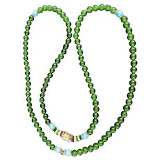 An Interesting Jade Bead Necklace