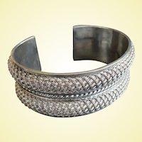 Stunning, Heavy Suarti Sterling Silver Bracelet BA 925