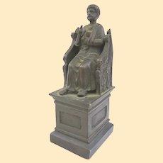 Unusual Chair of Saint Peter Bronze Grand Tour Memento