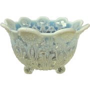 Northwood Pearl Flowers Opalescent Glass Nut Bowl C1905