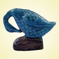Antique Miniature Peking Blue Sleeping Duck