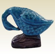 Antique Miniature Peking Blue Sleeping Duck