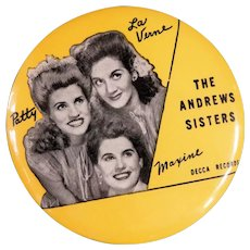 Pristine Andrews Sisters Advertising Record Cleaner 1940s