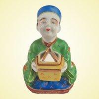 Vintage Japanese Porcelain Wise Man Incense Burner Koro