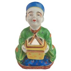 Vintage Japanese Porcelain Wise Man Incense Burner Koro