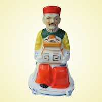Vintage Japanese Porcelain Wise Man Incense Burner Koro Occupied Japan