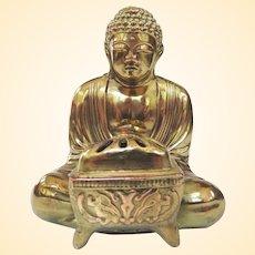 Vintage Cast Copper Japanese Kamakura Daibutsu Buddha Koro Incense Burner