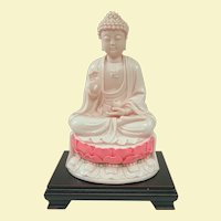 Impressive and Unusual Rose Dehua Porcelain Buddha 11 1/2""