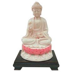 "Impressive and Unusual Rose Dehua Porcelain Buddha 11 1/2"""