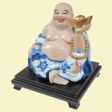 An Unusual and Large Vintage Lucky Money Hotei Buddha