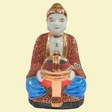 A Cute Vintage Japanese Buddha Moriage Incense Burner in Original Box