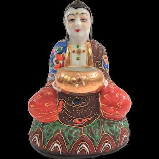 Old Goldcastle Japanese Ceramic Moriage Incense Burner, Circa 1950s