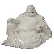 An Excellent Vintage Dehua Blanc de Chine Porcelain Buddha