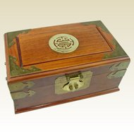 An Auspicious Vintage Chinese Jewelry Box