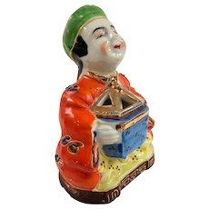 Made in Japan Happy Boy Single Piece Moriage Ceramic Incense Burner or Koro