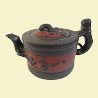 An Excellent Vintage Two Color Chinese Yixing Clay Teapot
