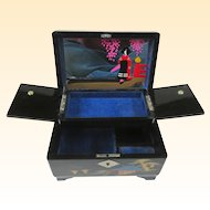 An Unusual Vintage Japanese Musical Jewelry Box