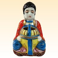 A Cute Little Japanese Moriage Buddha Incense Burner C1950s
