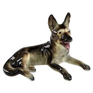 An Excellent Vintage 1940s German Shepard Ceramic Dog Figurine