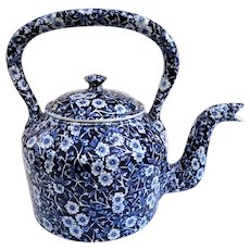 Beautiful Vintage Staffordshire Royal Crownford Blue Chintz Teapot