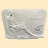 Vintage Porcelain LLadro Collectors Society Display Plaque 1985