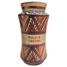 Sensational Rare Antique Lustre Ware Apothecary Jar Circa 1840